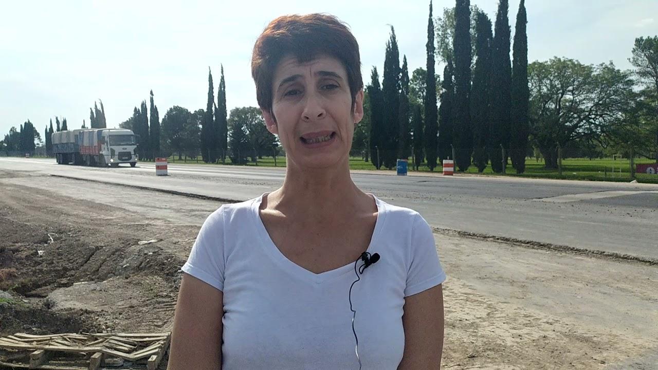 ANDREA OCHAT:; EL TRAMO EN CONSTRUCCIÓN DE LA RUTA 34 ES UN PELIGRO LATENTE