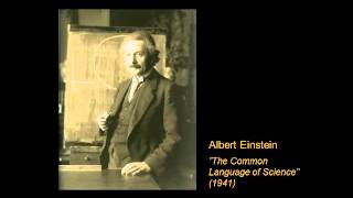 "Albert Einstein reads ""The Common Language of Science"" (Full version, 1941)"
