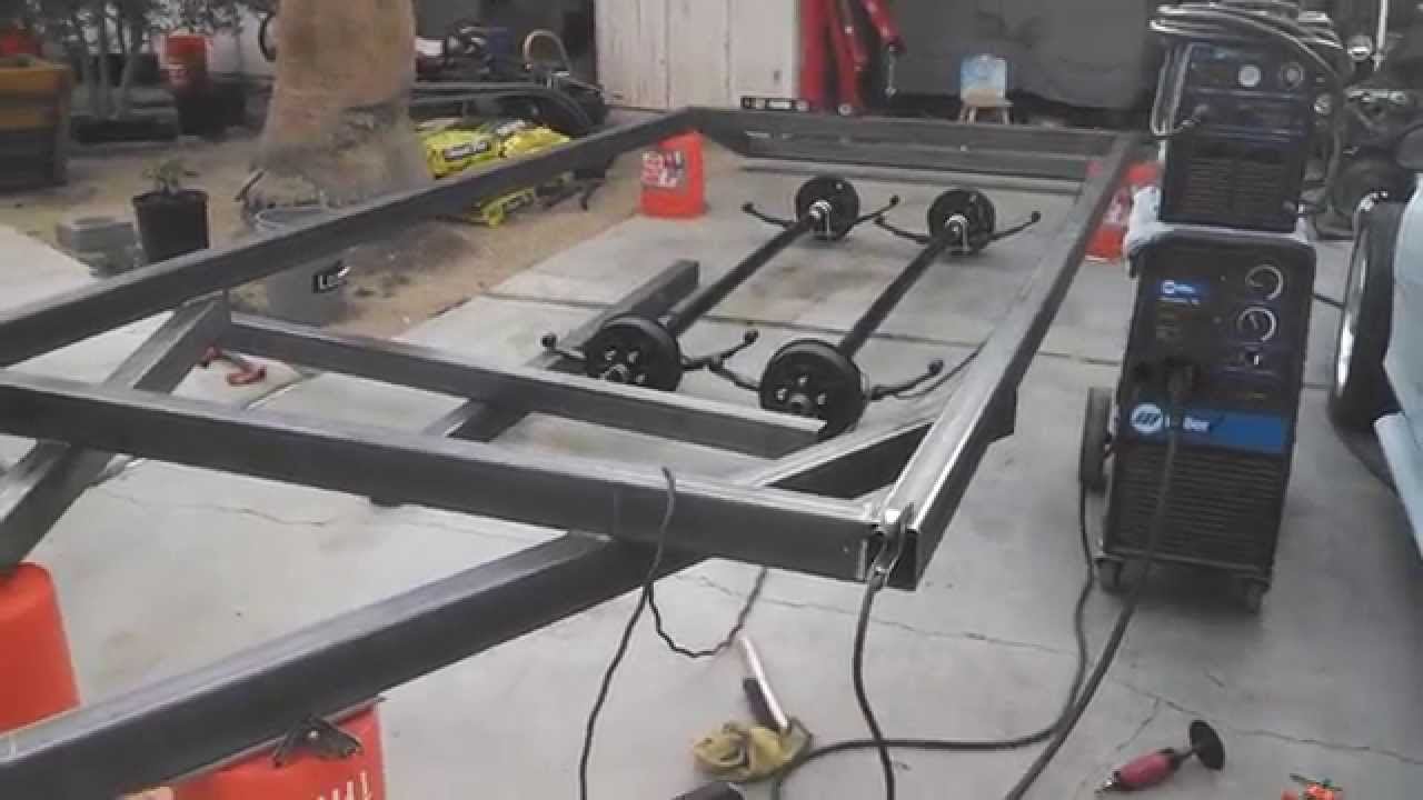 Building an 18 flat trailer car carrierhauler with dove tail building an 18 flat trailer car carrierhauler with dove tail project part 3 youtube malvernweather Gallery