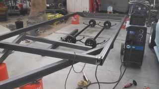 Building An 18' Flat Trailer Car Carrier/hauler With Dove Tail Project Part 3