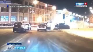 В центре Архангельска пьяный водитель влетел в столб