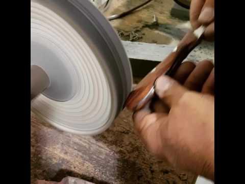 Polishing an Oyster Knife