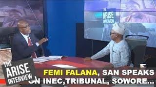 Femi Falana SAN speaks on INEC Tribunal Sowore and Elzakzaky