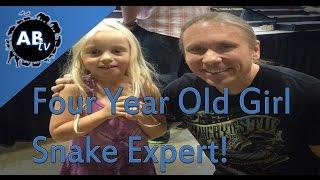 4 Year Old Girl Snake Expert! SnakeBytesTV : AnimalBytesTV