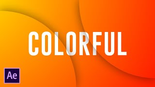 Colorful Title Animation in After Effects - After Effects Tutorial