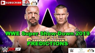 WWE Super Show-Down 2019 Triple H vs. Randy Orton Predictions WWE 2K19