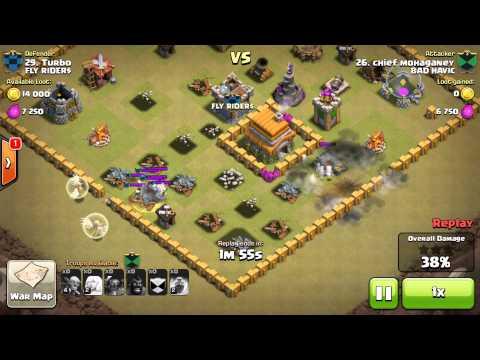 3 Pekka Vs  Level 2 Witch Clan wars Epic Defense