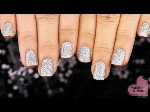 Party Silver Glitter Nails - A New Year\'s Eve Manicure Tutorial ...