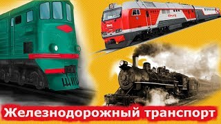 Железнодорожный транспорт для малышей Развивающие мультики для маленьких детей  Поезд для детей