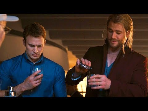 Superhero Party Scene - Stan Lee Cameo - Avengers: Age of Ultron (2015) Movie CLIP HD