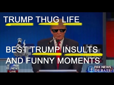 TRUMP THUG LIFE- Best insults-Sad moments against other Republican candidates