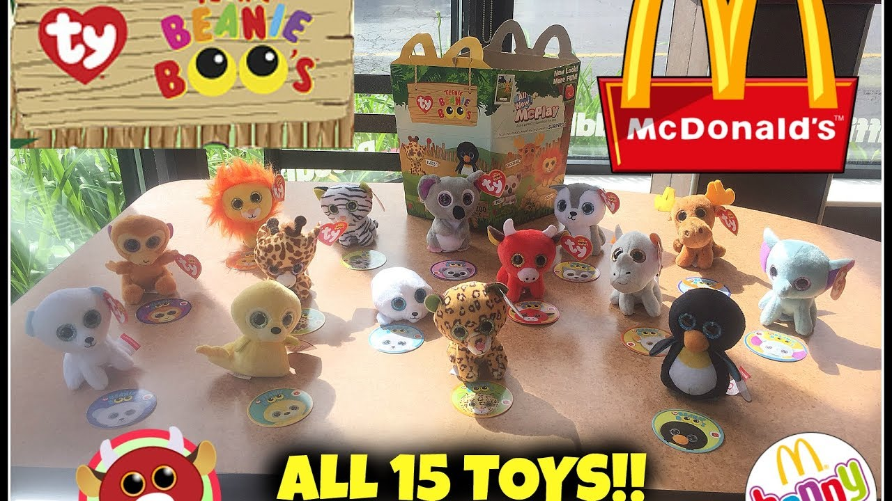 MCDONALDS TY Teenie Beanie Boo s! Happy Meal Toys! May 2017! ALL 15 TOYS! bb6923cf7ff