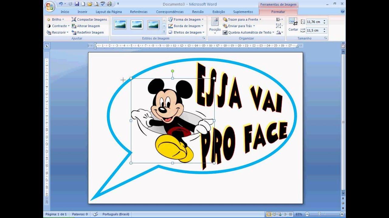 Aula 5 Como Fazer Plaquinhas Divertidas Usando O Word Editando A