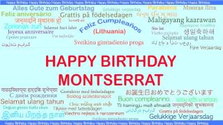 Montserrat   Languages Idiomas - Happy Birthday