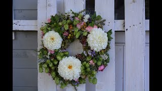 DIY: Herbstkranz selber machen - Tür/Tisch-Deko mit Naturmaterialien