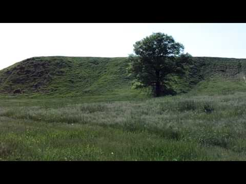Cahokia Mounds Historic Site Illinois Part 2 - View of Monks Mound from Ground