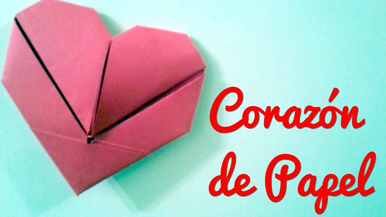 corazon de papel origami manualidades para regalar youtube