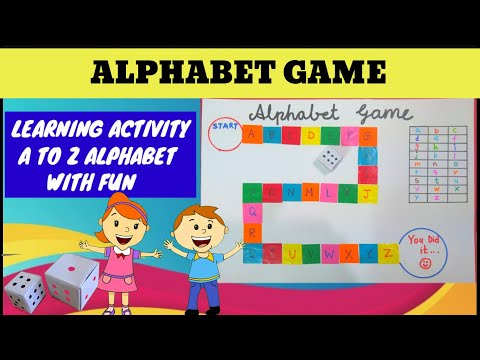 Alphabet Game A to Z through the activity, Learn with fun Aa to Zz recognition. #activitiewithgunjan