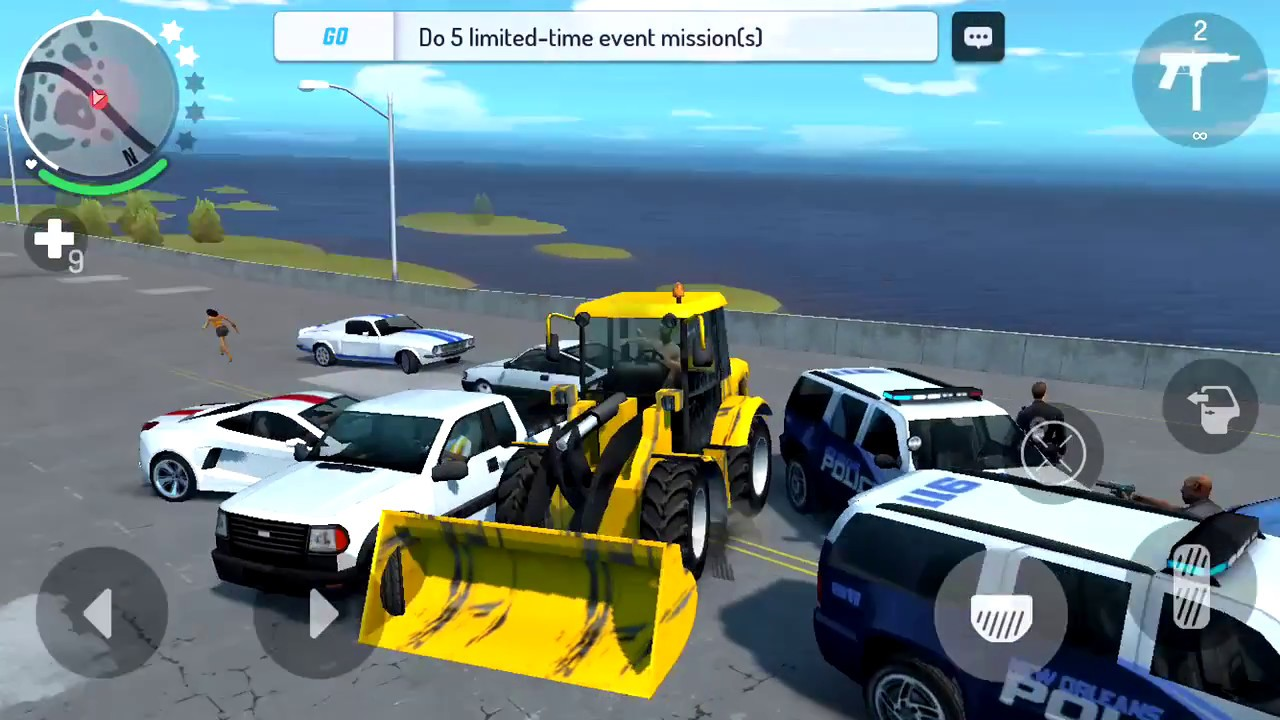 Gangstar new orleans d073 tractor vs cars police for Police orleans