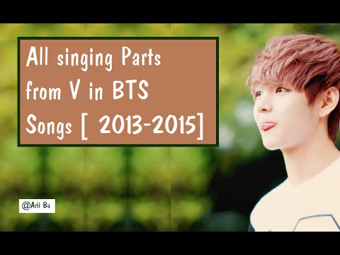 V's (Taehyung's) PARTS in BTS SONGS