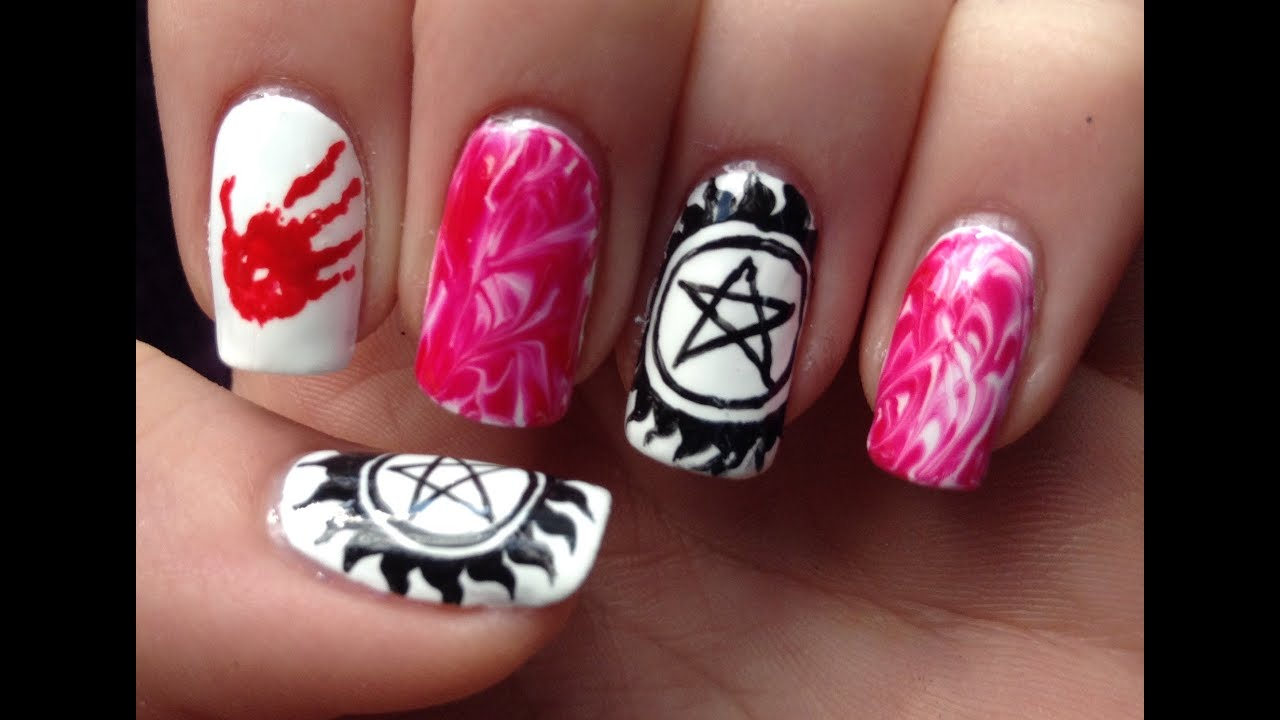 Supernatural nail art tutorial request youtube supernatural nail art tutorial request prinsesfo Image collections