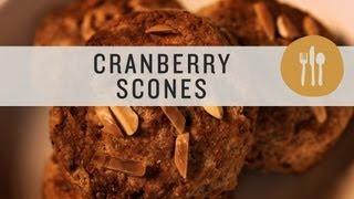 Fresh Cranberry Almond Scones - Superfoods