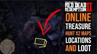 Red Dead Redemption 2 Online Treasure Hunt x2 Maps (Rank 30 bonus)