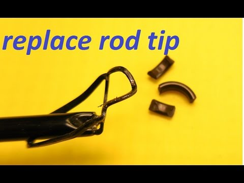 How to replace tip-top on fishing rod using household hardwa