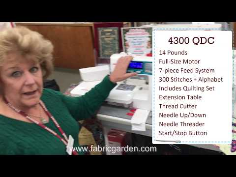Janome 4300 QDC Quick Demo / Holiday Sale 2019