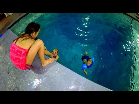 Brave Kids Jump and Dive in Deep Deep Pool