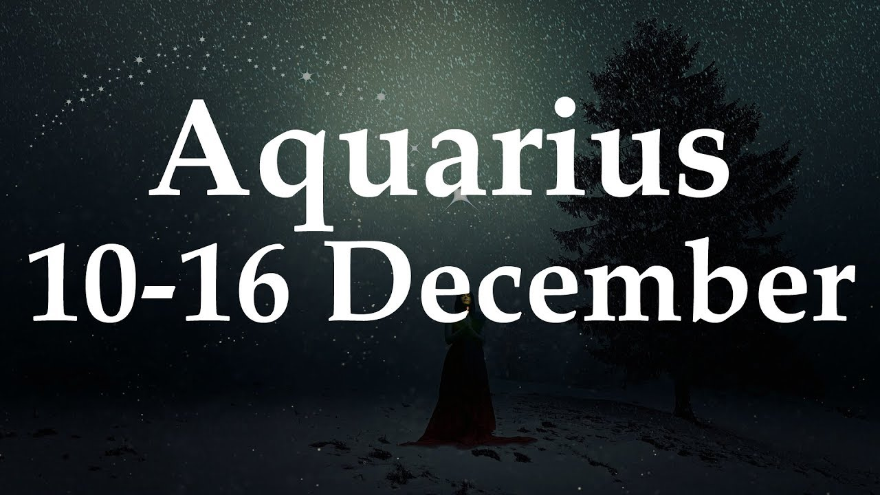 aquarius weekly horoscope from 2 december 2019