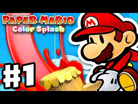 Paper Mario: Color Splash - Gameplay Walkthrough Part 1 - Port Prisma Intro! Huey! (Nintendo Wii U)