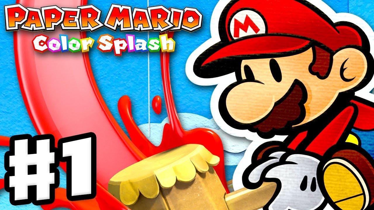 Paper Mario: Color Splash - Gameplay Walkthrough Part 1 - Port Prisma  Intro! Huey! (Nintendo Wii U)