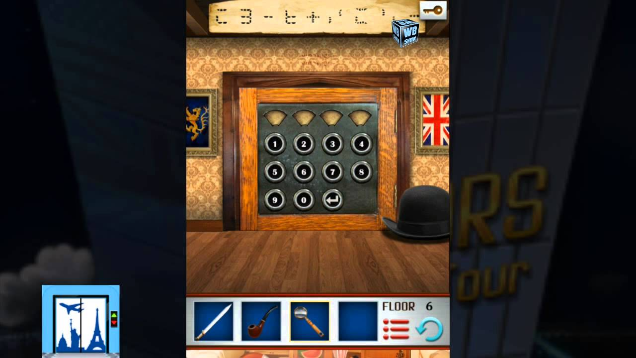 100 Floors World Tour Uk Level 6 Walkthrough Solution