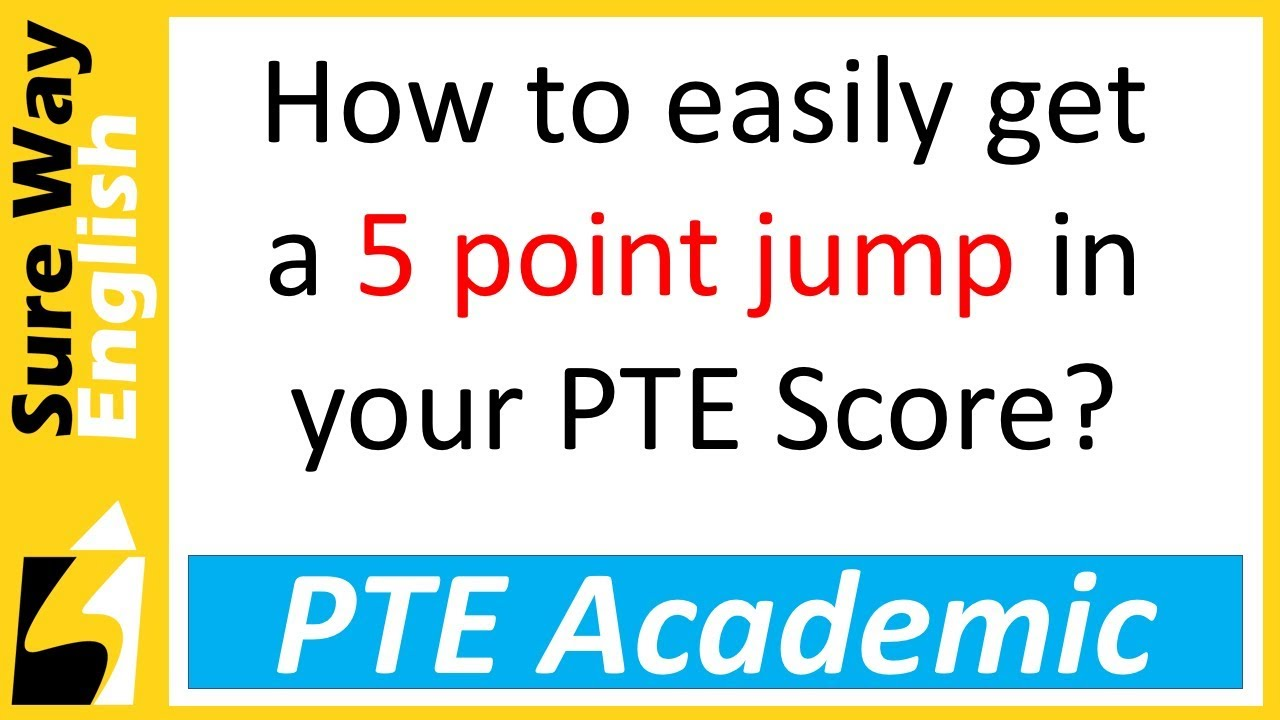[Must Watch] How to increase your PTE score easily and quickly