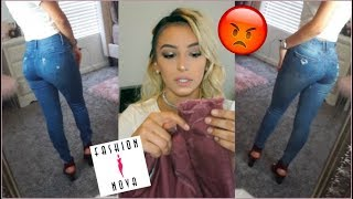 MUST WATCH BEFORE BUYING FROM FASHION NOVA! SIZE 0 JEANS TRY ON AND REVIEW