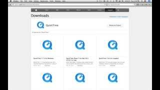 how to install Quicktime Player on macintosh and windows