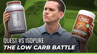 Isopure Vs Quest Protein Powder Review: The Low Carb Battle!