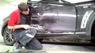 Кузовной ремонт. Инфинити . Сложный ремонт двери .(, 2016-11-03T13:12:18.000Z)
