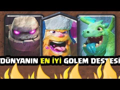 DÜNYANIN EN İYİ GOLEM DESTESİ ile KÜRESELDE MAÇLAR !!! - Clash Royale