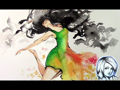 Loving my art | Watercolor+Ink Painting