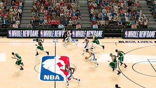 NBA 2K20 - Philadelphia 76ers vs Boston Celtics - Orlando NBA Bubble Court - Full Game (PS4)