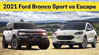 2021 Ford Bronco Sport vs 2021 Ford Escape