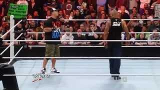 WWE John Cena Interrupts The Rock на RAW 27.02.2012.русс,озв от 545TV