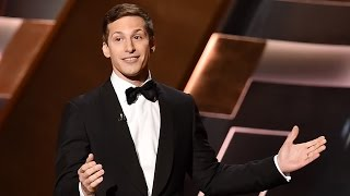 andy samberg sings in hilarious 2015 emmys opening monologue