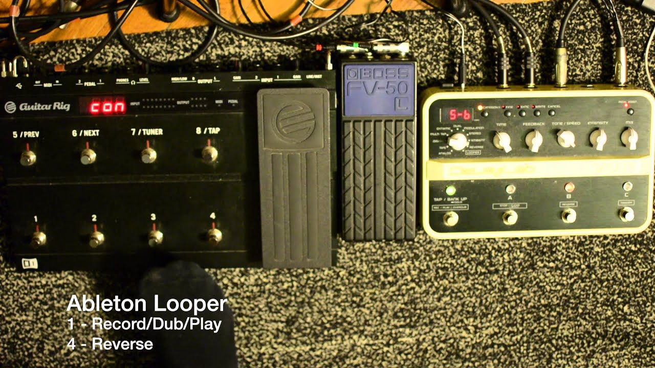 ableton looper guitar rig kontrol 3 youtube. Black Bedroom Furniture Sets. Home Design Ideas