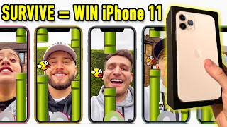 Last Man Standing Wins iPhone Challenge (Face filter Flappy Birds Edition)