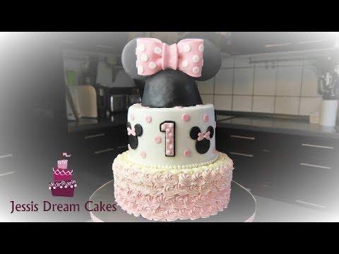 Minnie Maus Torte How To Make A Minnie Mouse Cake Youtube