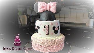 Minnie Maus Torte/ How to make a Minnie Mouse Cake