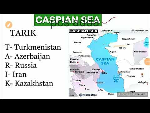 trick to remember country around CASPIAN sea